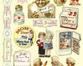 Whats Cooking Heartwarming Vintage Stickers HVS924