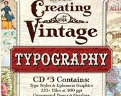 CD 3 Creating With Vintage Typography