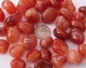 3 x Carnelian Gemstone Tumblestone, Crystal Healing, Reiki, Health