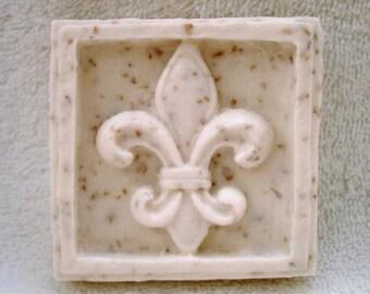 Handmade Fleur-de-lis French Soap