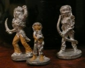 Vintage Ral Partha Elfquest 25mm White Metal RPG Wolfriders Figurines: Cutter, Nightfall & Ember
