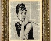 Audrey Hepburn Dictionary Art