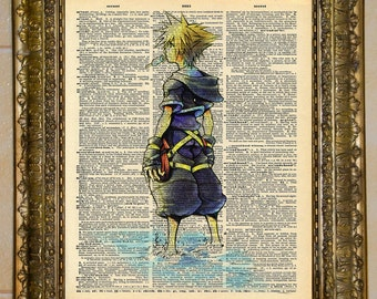 Sora Kingdom Hearts Dictionary Art