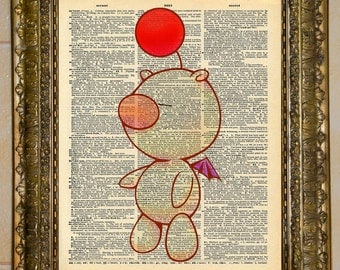 Final Fantasy Moogle Dictionart Art
