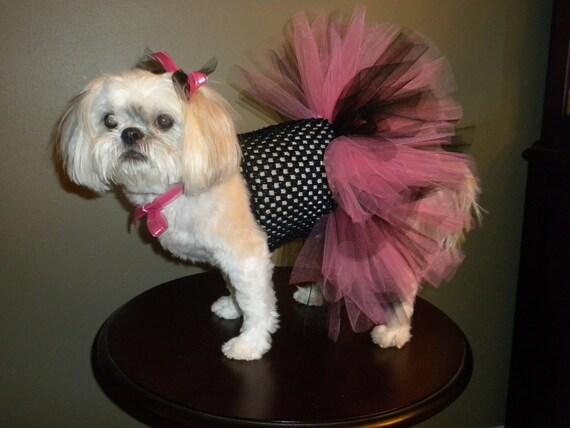 Hot pink and Black Dog Tutu Dress