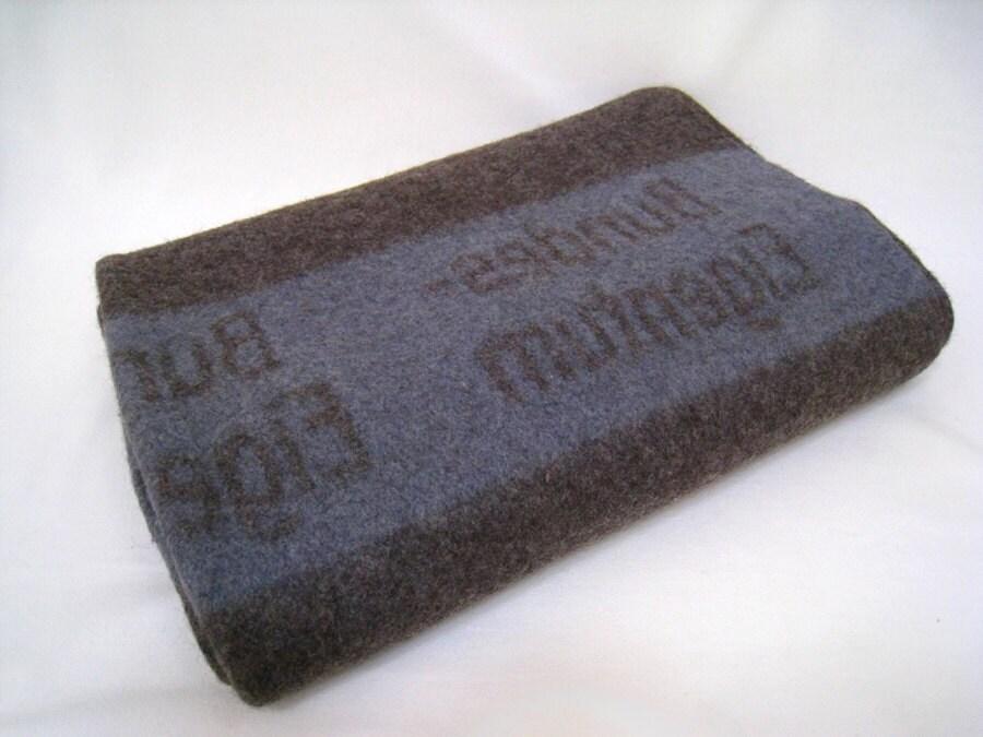 Vintage German Military Wool Blanket Rare