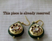 Reserved for -Earrings with Minakari and Kundan work