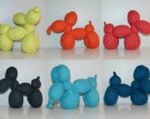 "1 Small Knit Wool Felt Balloon-Dog Toy (7"")"