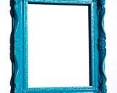 Large Frame 11 x 14, Turquoise, Retro