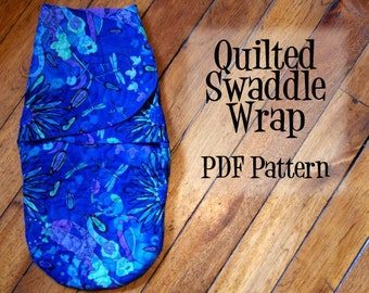 Quilted  Baby Swaddle Wrap PDF Pattern - Instant Download