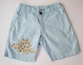 Light Blue Boys Pants,Spring Summer Shorts,Cool Boy Fashion