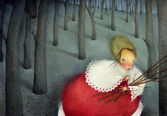 On a Sixpence She Turned... - Giclee Print