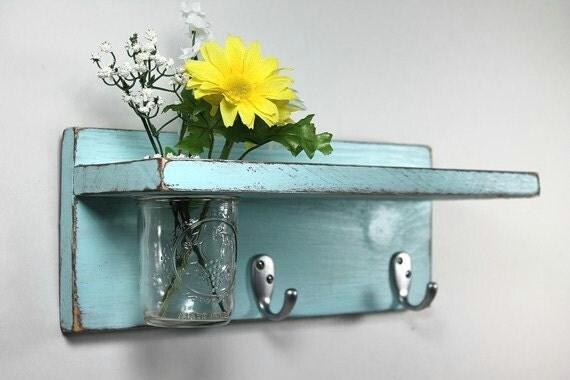 Ganchos para llaves repisa vintage 2 con florero por for Ganchos para repisas