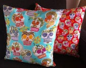Sugar Skull Collection: Dia de los Muertos 16x16 decorative pillow with poly insert