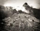 Machu Picchu 8x8 Black & White Photo - Fine art print