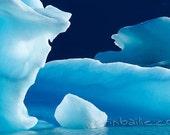 Icebergs in Alsek Lake - Photo Art Print - 6X9
