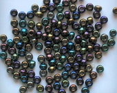 ACCENT 3mm (50 pcs) Pearl Shell Beads Metallic Color Green Blue Golden Yellow Violet