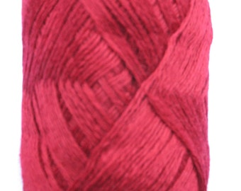 Wool Acrylic Yarn Skeins - raspberry pink red 100 gr (3.53 oz ), approximately 407 yds