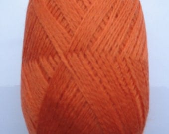 Wool Acrylic Yarn Skeins - orange100 gr (3.53 oz ), approximately 407 yds
