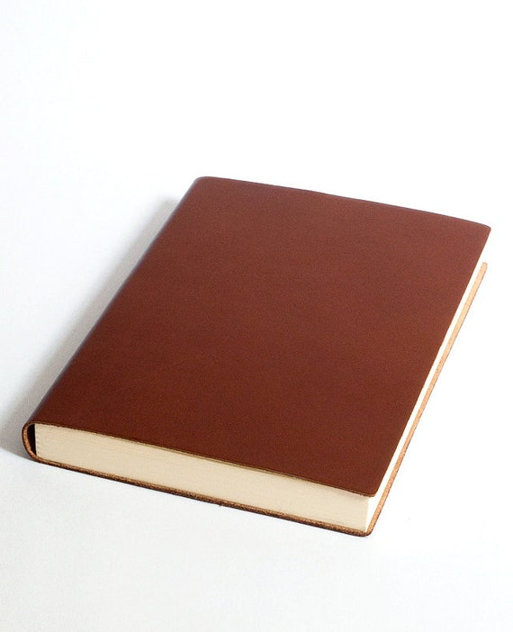 fluo journal cognac, notebook with a soft leather covering