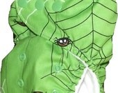 Modern cloth designer pocket nappy - Spider web - One size fits most