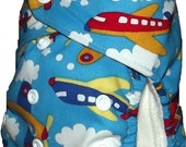 Modern cloth designer pocket nappy - Sky plane - one size fits most