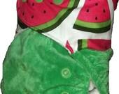 Minky split pocket nappy - Melon mayhem - One size fits most
