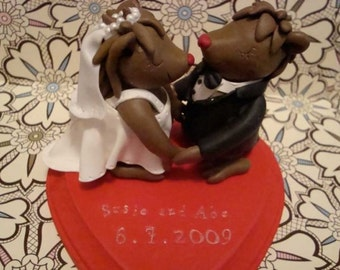 Custom Animal Wedding Cake Topper