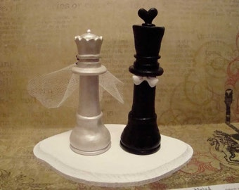 Customized Chess Piece Cake Topper