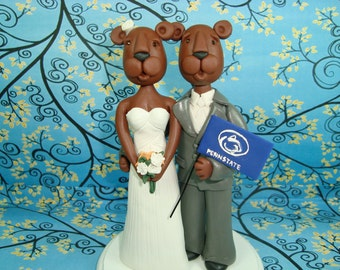 Custom Nittany Lion Wedding Cake Topper