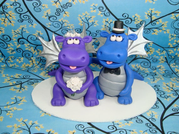 Custom Made Dragon Wedding Cake Topper