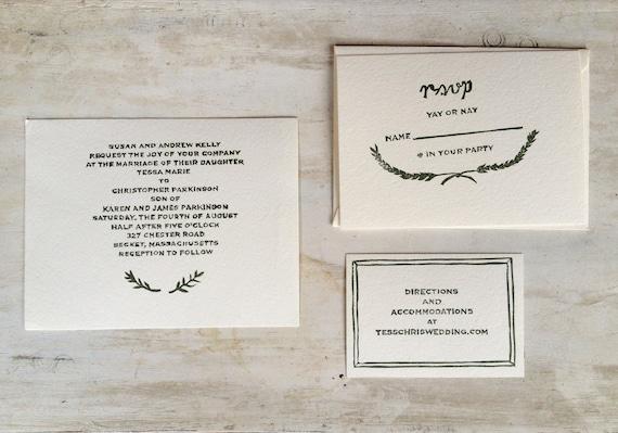 Custom Wedding Invitation Rubber Stamp Set By Saintjohnstreetpress