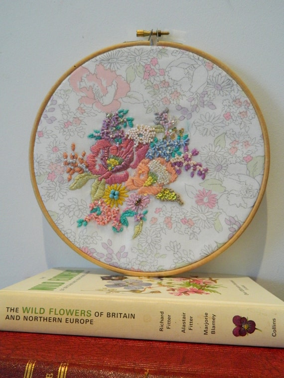 Items similar to embroidery hoop wall hanging on etsy