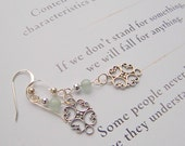 Pale Aventurine and Sterling Silver Earrings