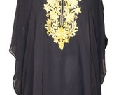 Black Georgette embroidered Kaftan Blouse