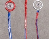 SALE dream catcher friendship bracelets. red, white, and blue
