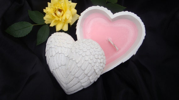 Angel Wings Heart Soy Candle, Scented