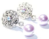 RESERVED FOR KENDRA Antique Pearl Drop Earrings, Bridesmaid Earrings