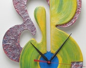 Unique Abstract Contemporary Modern Wall Art Clock