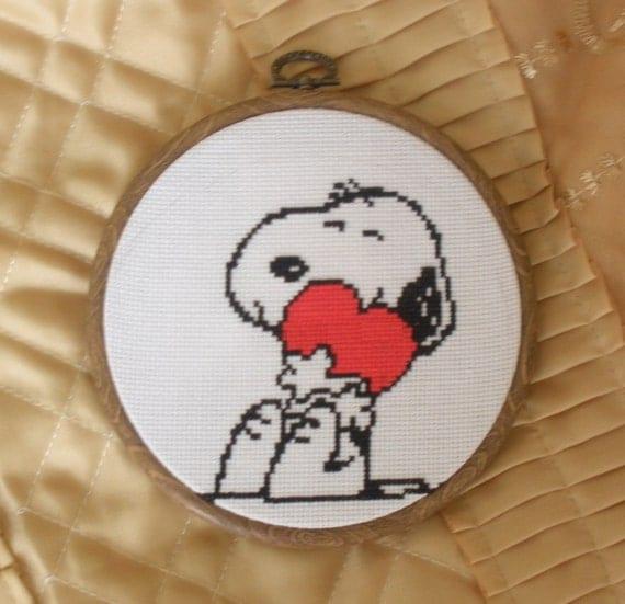 Cross stitch pattern PDF Snoopy dog Instant Download