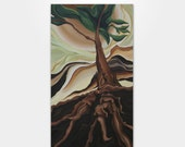 "ORIGINAL Oil on Canvas Abstract Modern Art - 72"" x 40"" x 1.5"" - Tree 08 by Kurtis Hough"