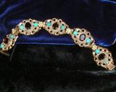 Garnet & Turquoise Bracelet - RESERVED FOR HELEN