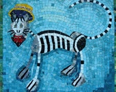 Original Mosaic: Day of the Dead Cat