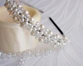 Swarovski Pearls and crystals Bridal Tiara