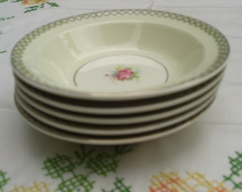 Early Vintage Taylor Smith Taylor - Pattern 1800 - Set of 5 Berry Bowls - 1940s
