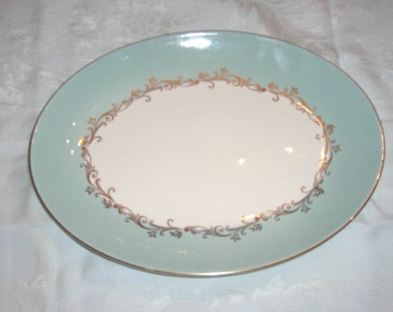 Lifetime China Homer Laughlin Gold Crown 11 5/8 Inch Platter