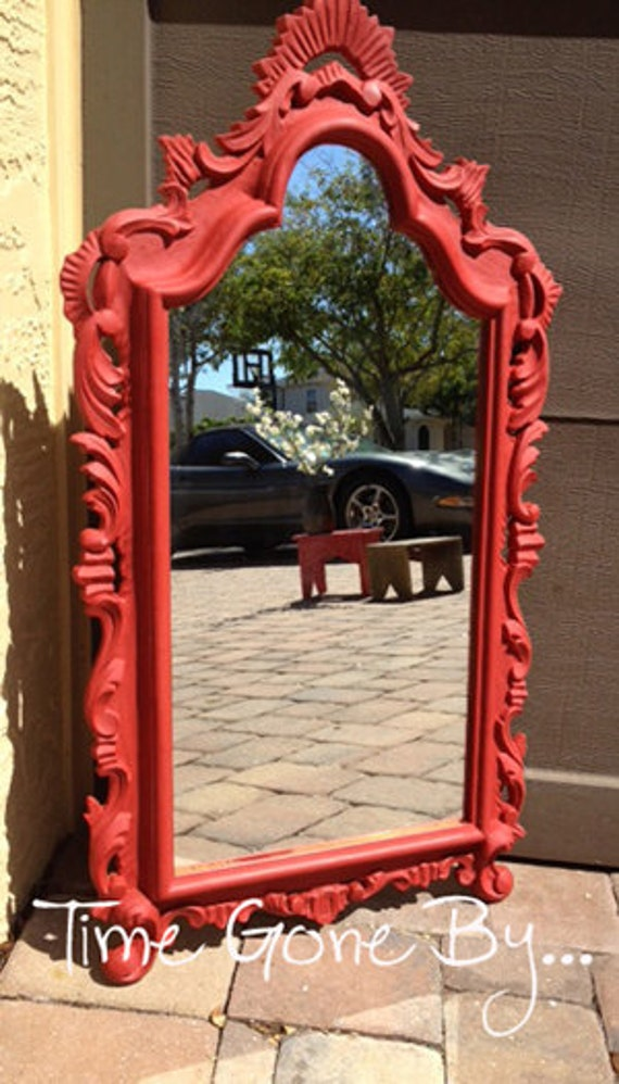 Ornate Red Mirror - Queen Apple