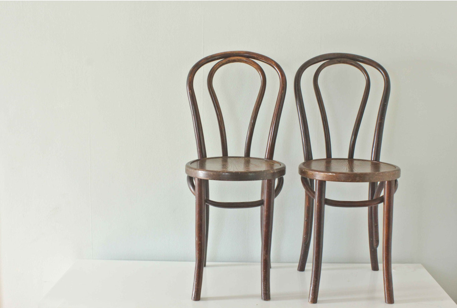 Wood Bistro Chairs Thonet Style Bentwood From The 1930 S