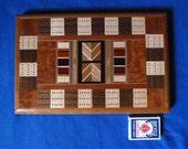 Wood Inlay Cribbage Board 7