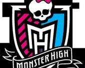 Monster High Water Bottle Label - Digital - Special Price